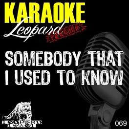Somebody that i used to know karaoke version