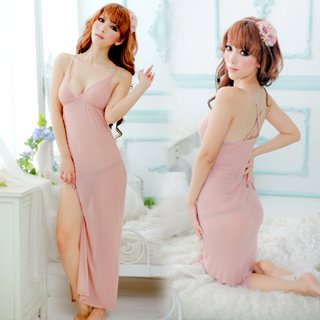 Naked women in sexy night gowns