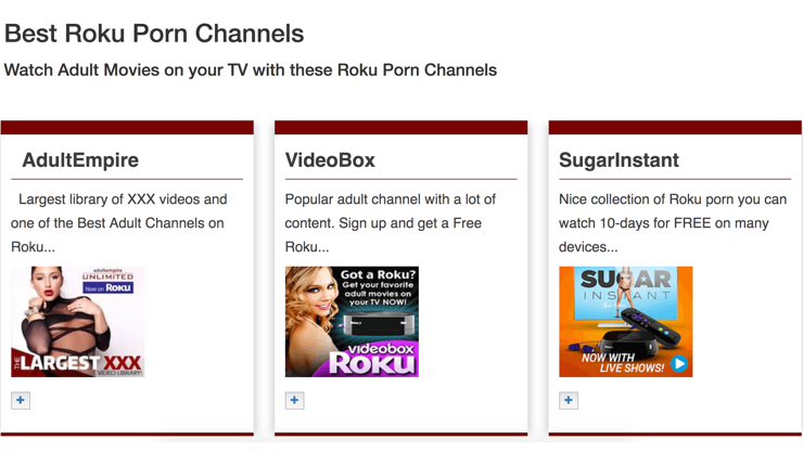 Roku private porn channels